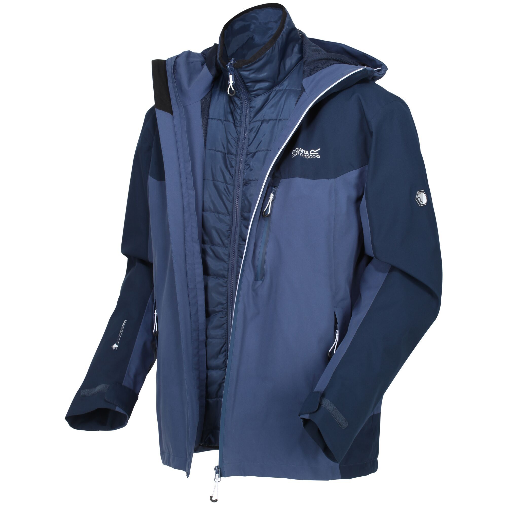 Men's 3 in 1 waterproof jacket